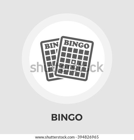 Bingo Icon Vector. Flat icon isolated on the white background. Editable EPS file. Vector illustration. - stock vector