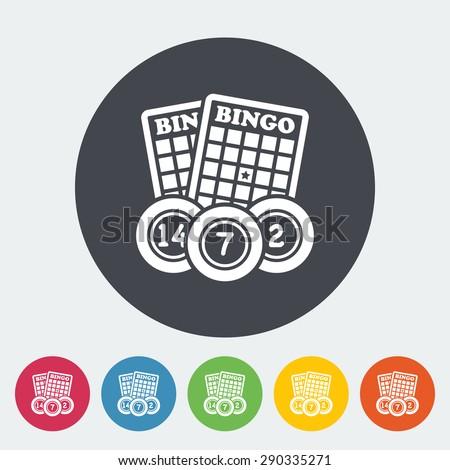 Bingo. Single flat icon on the circle button. Vector illustration. - stock vector