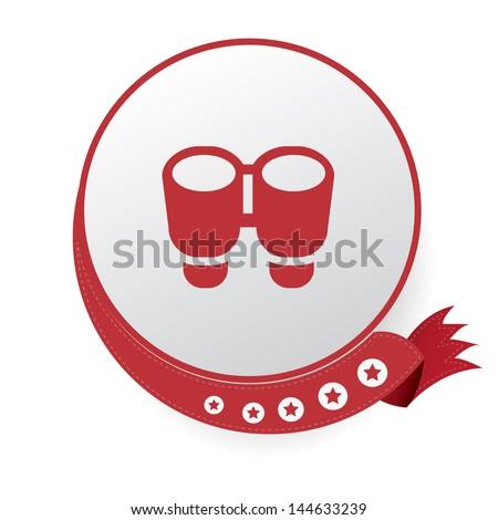 Binocular symbol,vector - stock vector