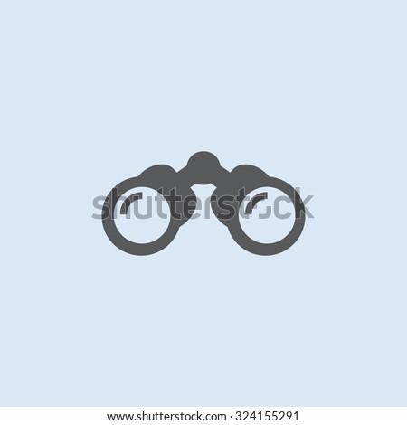 Binocular vector icon - stock vector