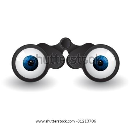 binoculars - stock vector