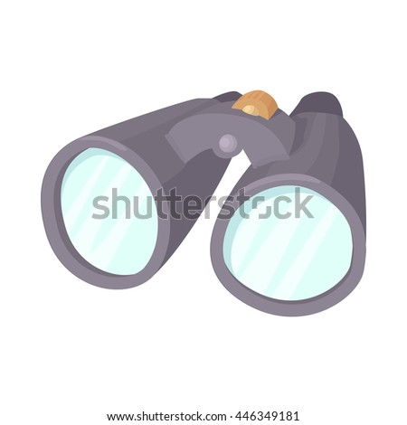 Binoculars icon in cartoon style isolated on white background. Optical device symbol - stock vector