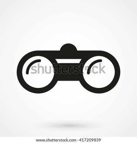 binoculars Icon isolated on background. Modern flat pictogram, business, marketing, internet concept. Trendy Simple vector symbol for web site design or button to mobile app. Logo illustration - stock vector