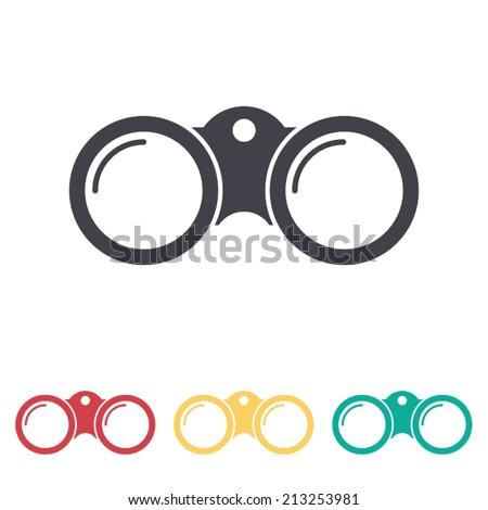 binoculars icon , vector illustration - stock vector