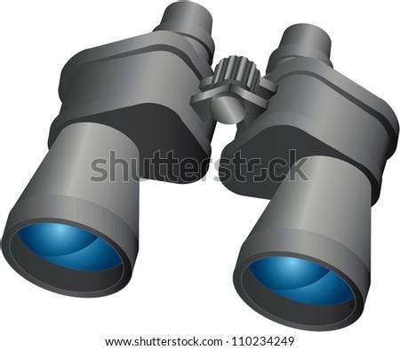 Binoculars,Vector design EPS10 - stock vector
