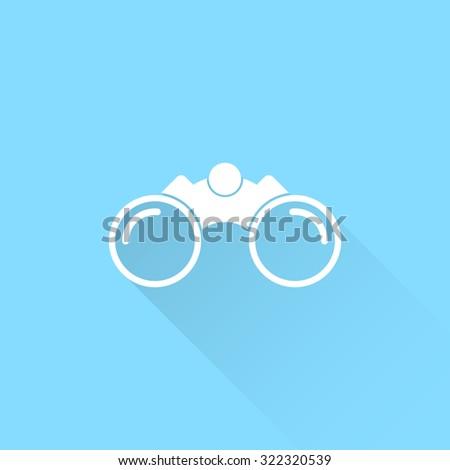 Binoculars vector icon. - stock vector