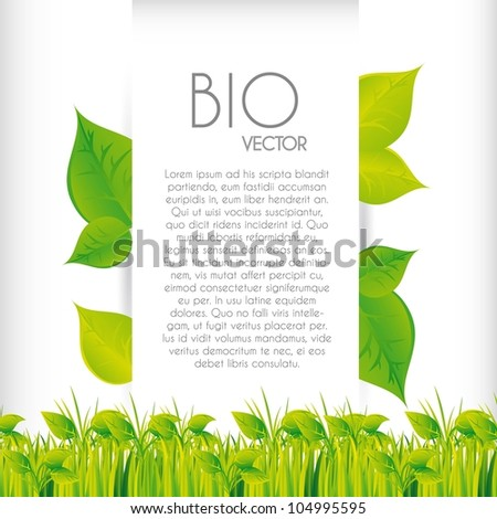 bio concept design with grass, background. vector illustration
