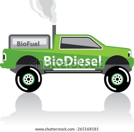 Bio diesel Pickup truck - stock vector
