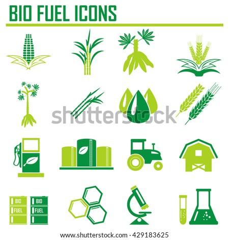 bio gas Icon. Vector. - stock vector
