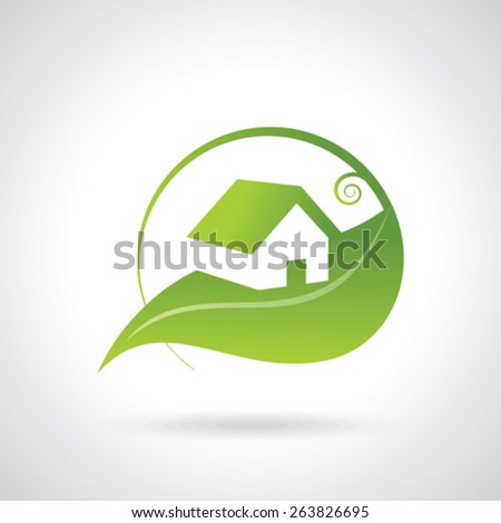 BIO GREEN HOUSE ICONS - stock vector