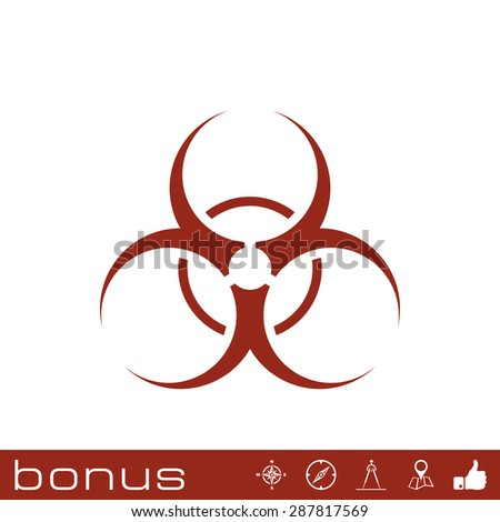 bio hazard sign - stock vector