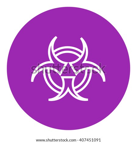Bio hazard sign line icon. - stock vector
