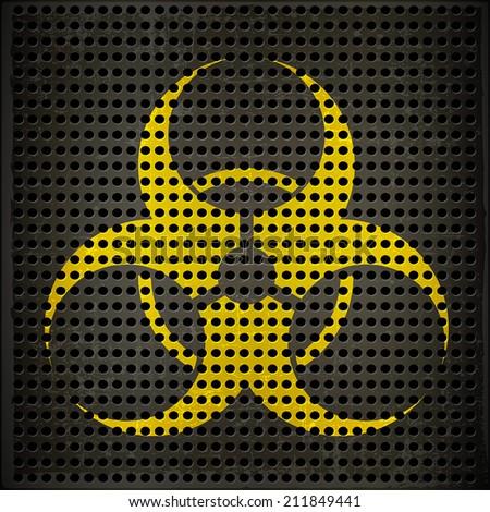 Bio hazard Symbol - stock vector