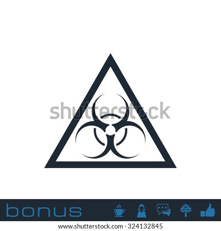 bio hazard symbol - stock vector