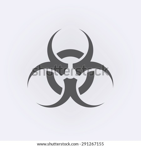 Bio hazard symbol sign of biological threat alert - stock vector