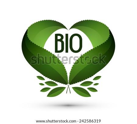 Bio. Logo, icon, sign, emblem, template - stock vector