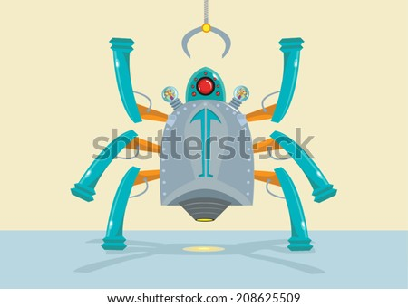 Bio Nano Robot Spider Innovation. Vector EPS10 - stock vector