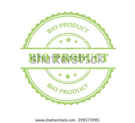 Bio product rubber stamp.Bio product grunge stamp.Vector illustration. - stock vector