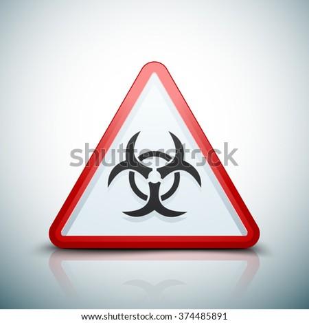 Biohazard danger sign - stock vector