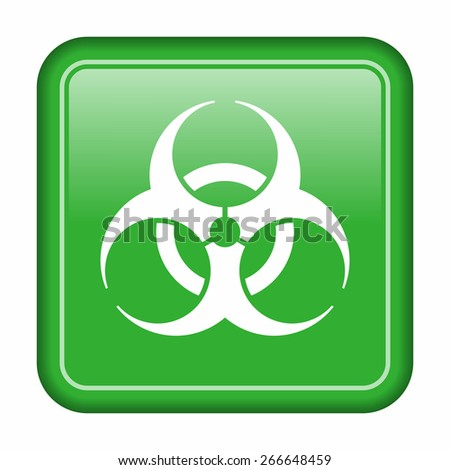Biohazard icon - stock vector