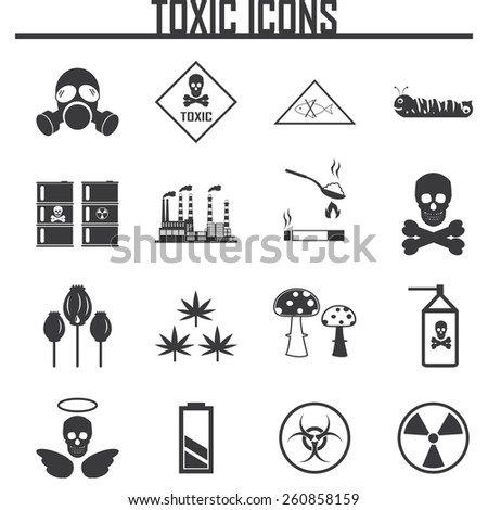Biohazard Icons. vector illustration eps 10 - stock vector