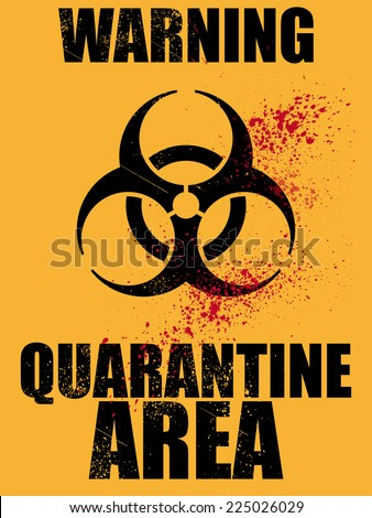 biohazard quarantine area background - stock vector