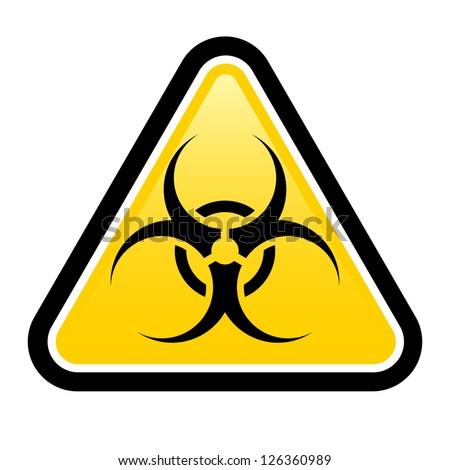 Biohazard sign. Illustration on white background for design - stock vector