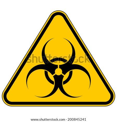 Biohazard sign over white background. Vector illustration. - stock vector