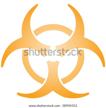 Biohazard sign, warning alert for hazardous bio materials - stock vector