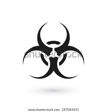 Biohazard symbol isolated on white background. Vector illustration - stock vector