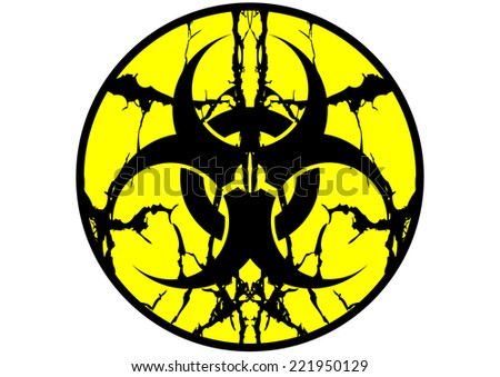 Biohazard symbol label spit up isolate - stock vector
