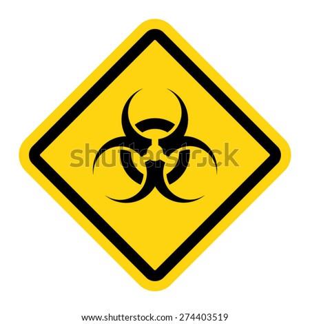 Biohazard symbol sign of biological threat alert - stock vector