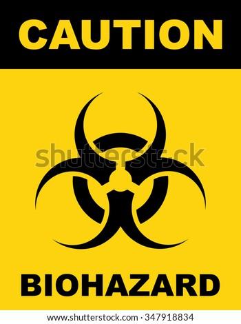 Biohazard Symbol Sign Biological Threat Alert Stock Vector Hd