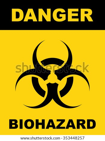 Biohazard Symbol Sign Biological Threat Alert Stock Vector 353448257