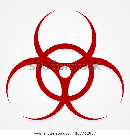 Biohazard symbol. Vector illustration - stock vector