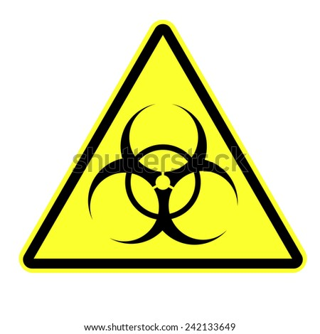 Biohazard symbol vector sign isolated - stock vector