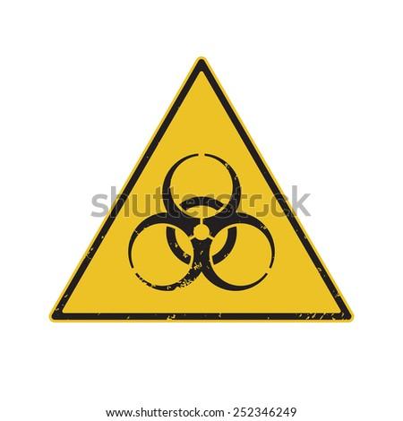 Biohazard Warning. Vector illustration Eps8 - stock vector