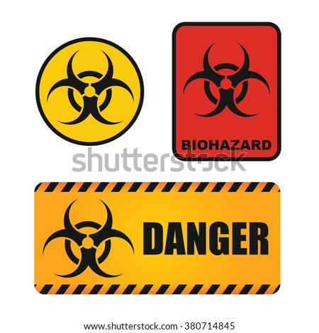 Biological hazards sign, abstract illustration for your Quickly recognizable table