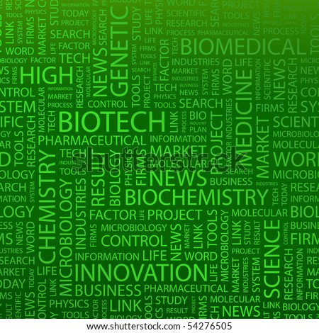 BIOTECH. Word collage. Vector illustration. - stock vector