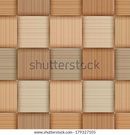 Birch-bark Basketwork. Seamless pattern. EPS 10. Mask was used. - stock vector