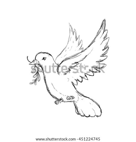 Bird and peace concept represented by dove icon. Isolated and flat illustration