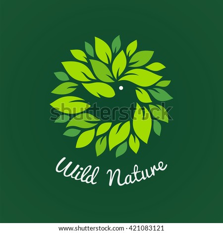 Bird and wild nature vector icon.