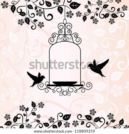 Bird background - stock vector