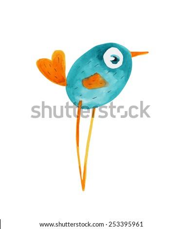 Blue and orange bird logo - photo#16
