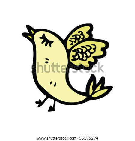 bird cartoon - stock vector