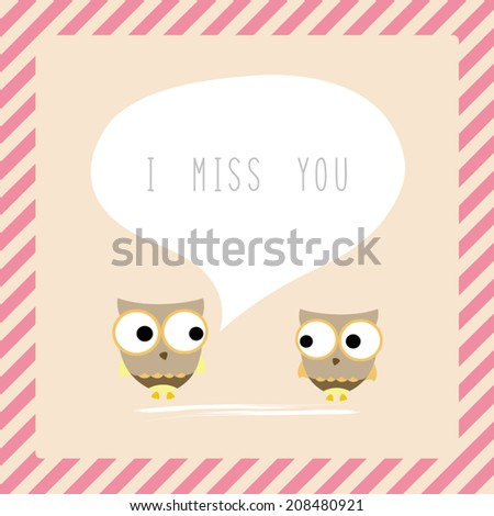 Bird couple say I miss you.