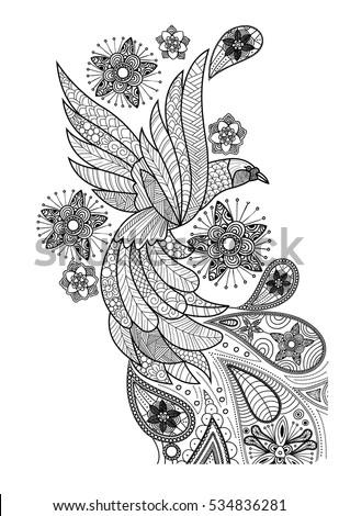 Bird Doodle Art Stock Vector 534836281 - Shutterstock
