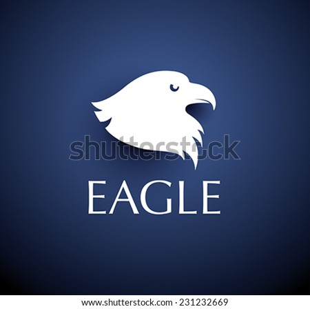bird emblem - vector eagle head icon - stock vector