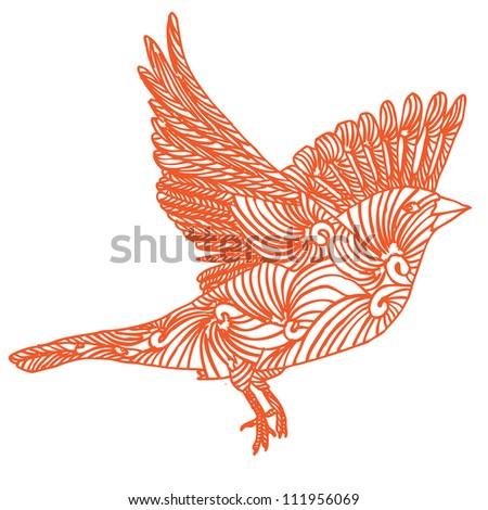 bird fly - stock vector