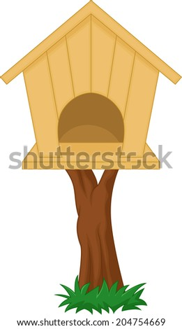 Bird house - stock vector